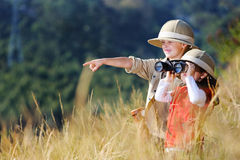 Играть детей потехи напольный Стоковое Изображение