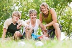 играть друзей boule Стоковое Фото