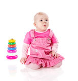 Играть девушки малыша Стоковая Фотография RF