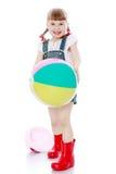 играть девушки шарика Стоковые Изображения