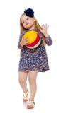 играть девушки шарика Стоковая Фотография