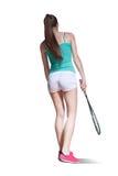 играть женщину сквош Стоковая Фотография RF