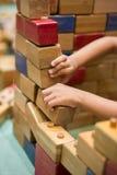 Играть игрушки древесины кирпича Стоковая Фотография RF