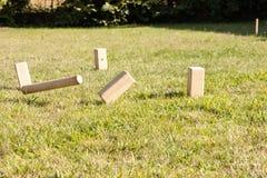 Играть игру kubb стоковая фотография rf