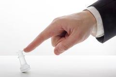 играть игры шахмат бизнесмена Стратегия концепции дела, leade Стоковые Фото