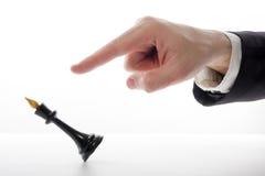 играть игры шахмат бизнесмена Стратегия концепции дела, leade Стоковое Фото