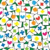 Играть карточек безшовной картины Стоковое Изображение