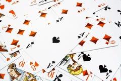 играть карточек предпосылки Стоковые Изображения
