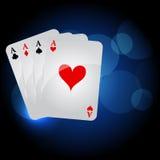 играть карточек иллюстрация штока