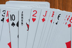 играть 5 карточек Стоковое фото RF