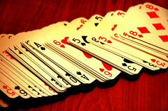 играть карточек Стоковое Изображение