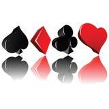 играть карточки Стоковые Фото