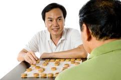 Играть китайский шахмат Стоковое Изображение RF