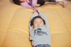 играть китайца ребенка Стоковое Фото