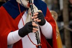играть кларнета Стоковые Изображения