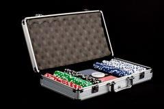 играть комплект покера Стоковое Изображение