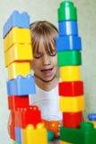 играть конструктора ребенка Стоковые Фото