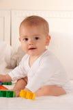 играть кровати младенца Стоковая Фотография