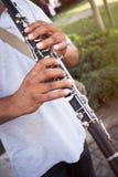 играть кларнета Стоковое Фото