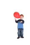 играть мальчика воздушного шара Стоковое Фото