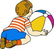 играть мальчика шарика Стоковая Фотография RF