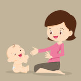 играть мати младенца Стоковые Фото