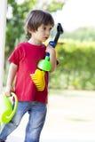 играть мальчика симпатичный Стоковое Изображение