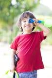 играть мальчика симпатичный Стоковая Фотография RF