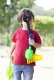 играть мальчика симпатичный Стоковые Фото