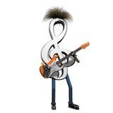играть музыкального примечания гитары Стоковые Фотографии RF
