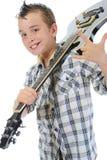 играть музыканта гитары маленький Стоковые Фото