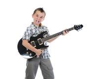 играть музыканта гитары маленький Стоковое фото RF