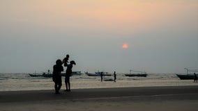 Играть на пляже 02 Стоковые Фотографии RF
