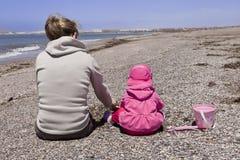 Играть на пляже Стоковое Изображение