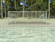 Играть на пляже Стоковые Фото