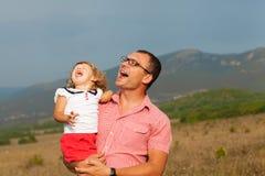 Играть отца и дочери Стоковое Изображение RF