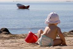 играть пляжа Стоковое Изображение