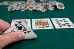 играть покер Стоковая Фотография RF