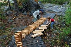 играть природы ребенка Стоковые Фото