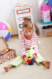играть ребенка кирпичей Стоковые Фото