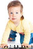 играть рояля младенца Стоковое Изображение RF