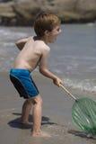 играть рыболовной сети ребенка Стоковое Изображение