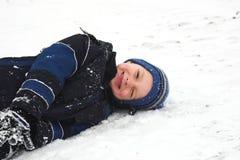 играть снежок Стоковое Фото