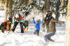 играть снежок Стоковое фото RF