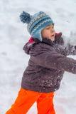 играть снежок Стоковые Изображения RF