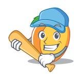 Играть стиль шаржа характера абрикоса бейсбола Стоковые Фото
