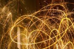 Играть с светами на ноче Стоковая Фотография RF