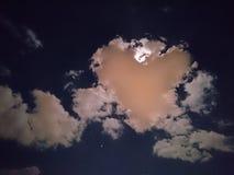 Играть с луной Стоковая Фотография RF