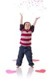 Играть с Confetti Стоковое Изображение