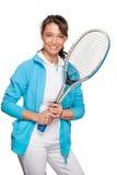 Играть теннис Стоковое Фото